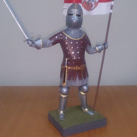 Историческая миниатюра рыцарь-знаменосец Великого княжества Литовского