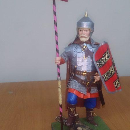 Историческая миниатюра воин Полоцкого княжества